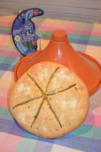 Green hatch chile flatbread