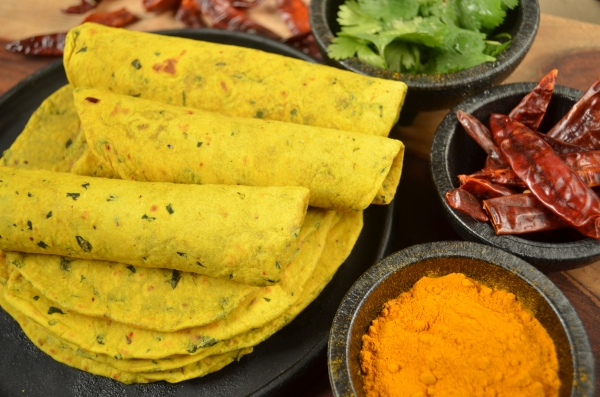 Curried tortillas