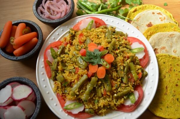 Rice nopalitos curry stir fry